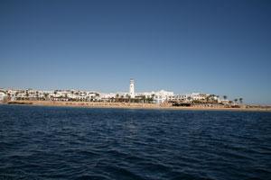 Отель, вид с моря