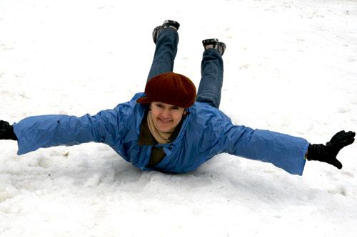 Прудникова на снегу