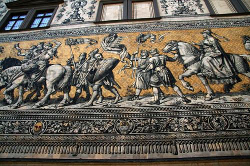 Дрезден, изображение из фарфоровых плиток